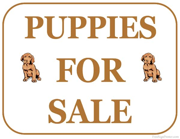 Puppies for sale decorative sign